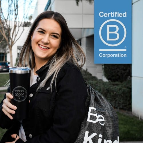 Certified-B-Corporation-Girl-With-Tumbler